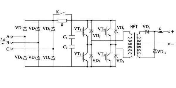 逆变焊接电源逆变原理图