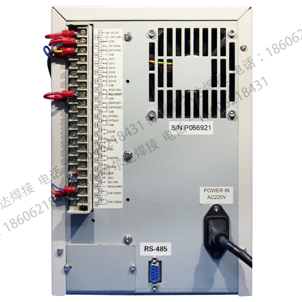中频逆变焊接电源I/O接口图