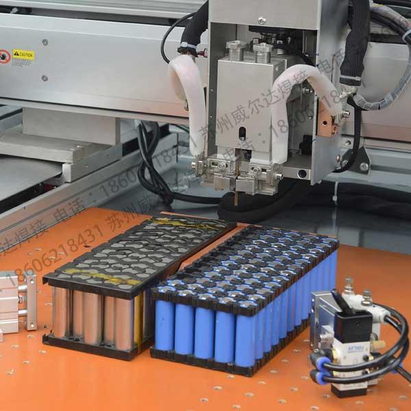 电池点焊机现场生产图